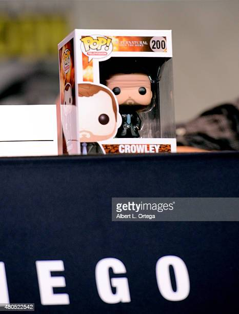 Funko producer is displayed at the Supernatural panel during ComicCon International 2015 at the San Diego Convention Center on July 12 2015 in San...