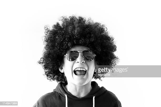 Funky afro boy