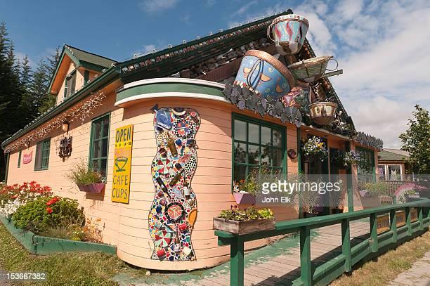 Funky cafe exterior