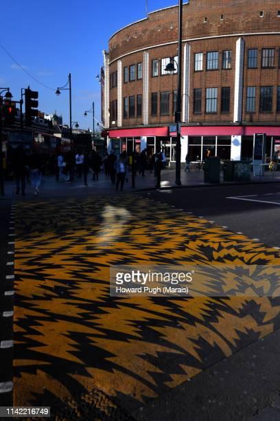 Funky Pedestrian Crossing. The Ritzy, Brixton