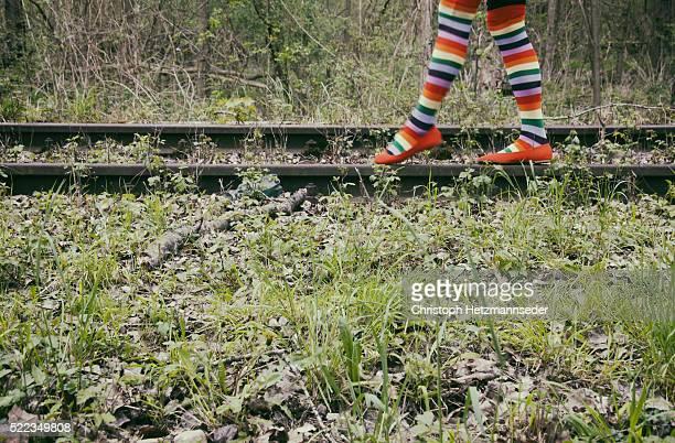 funky socks - 打ち捨てられた ストックフォトと画像