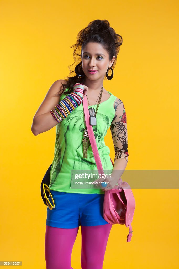 Funky young woman : Stock Photo