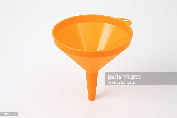 Funnel on White Background.