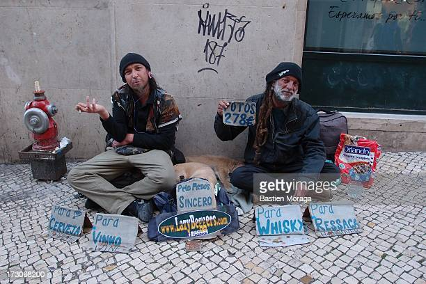 CONTENT] Funny beggars in the street Lisboa Portugal