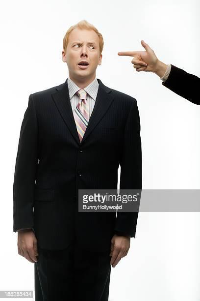 Funny Businessman gets finger bang on White