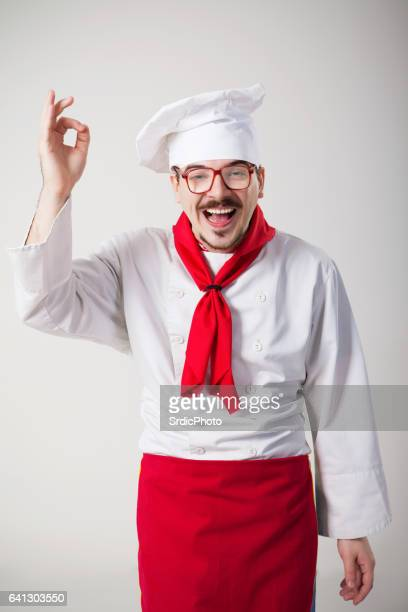 Funny chef with glasses