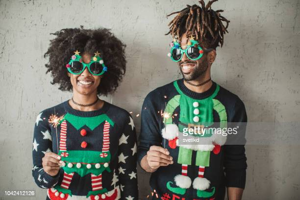 Funny Christmas couple