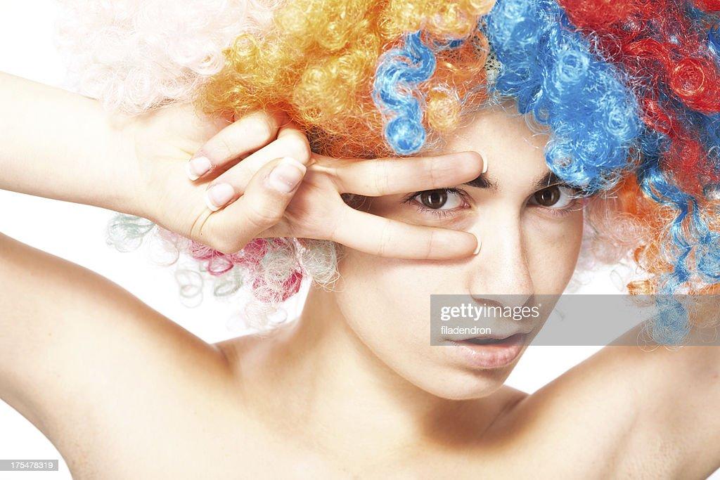 funny clown : Stock Photo