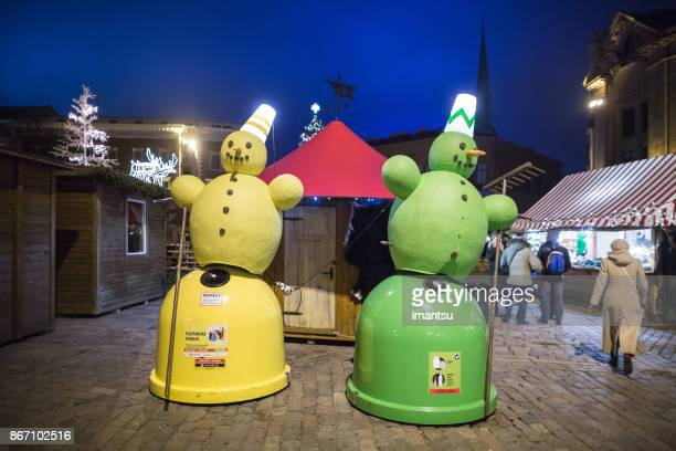 Funny colorful waste containers