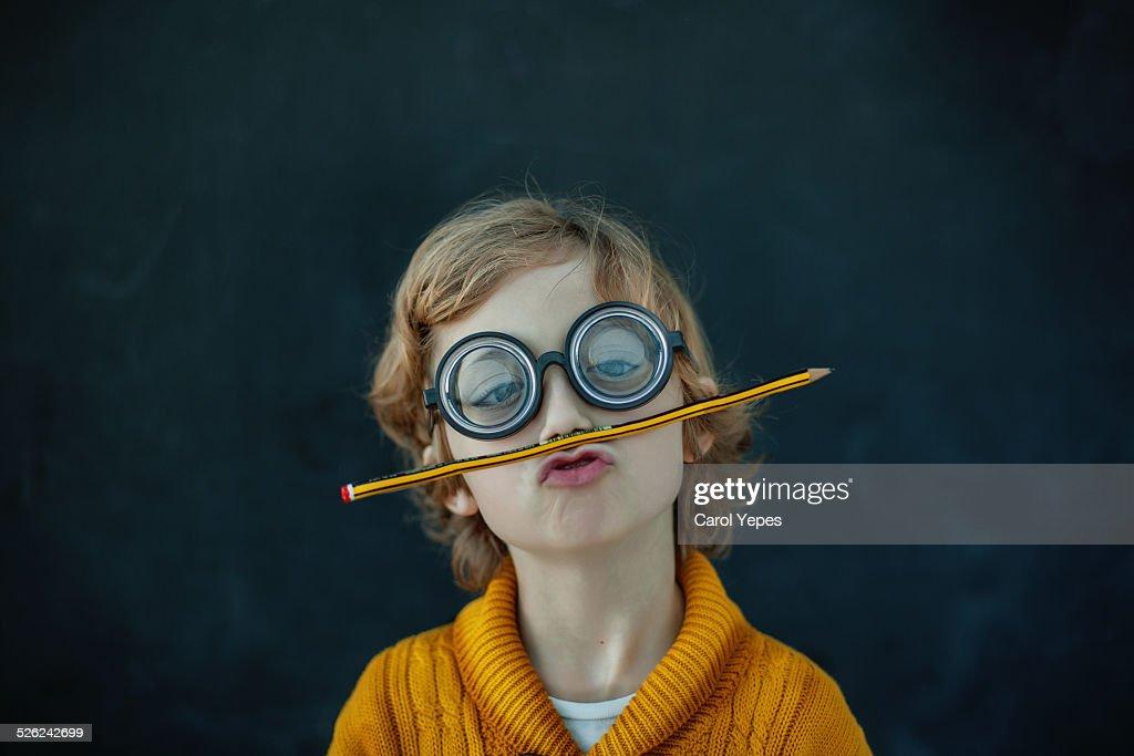 Funny crazy student : Stock Photo