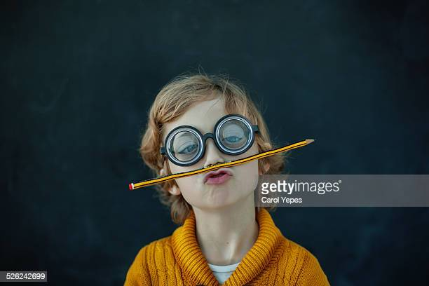 funny crazy student - ugly kids stock photos and pictures