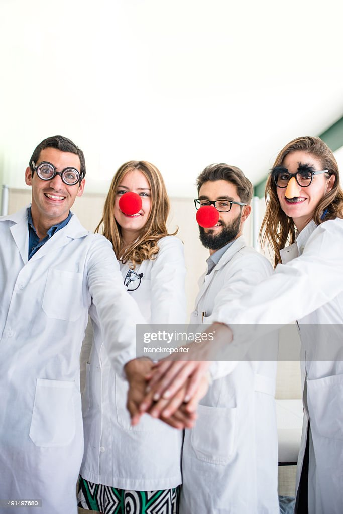 Funny doctors at the hospital : Stock Photo