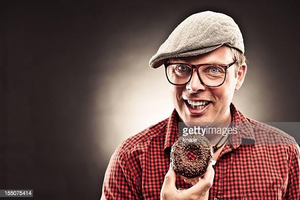 Lustiger donut Mann