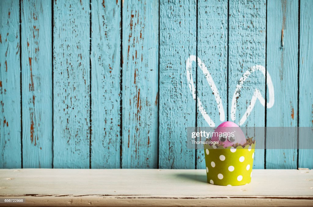 Send easter greetings to your family and friends just pick one of photography of a pink easter egg in a dotted green cake pan m4hsunfo