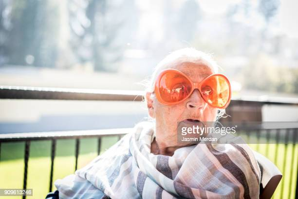 funny elderly people - old lady funny stock pictures, royalty-free photos & images