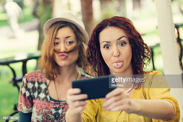 Funny face selfie