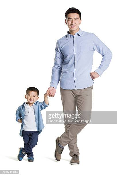 Funny father and son