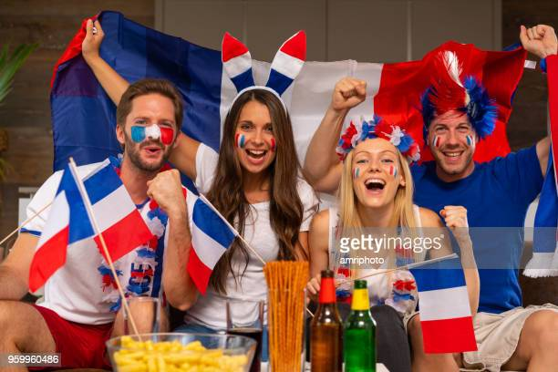 funny french soccer fans at home