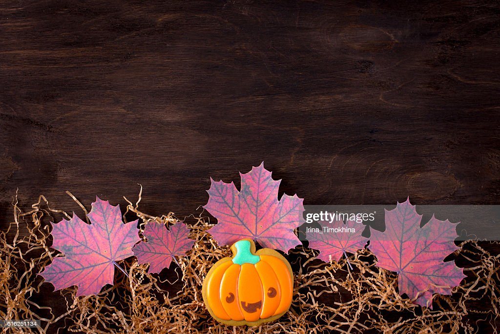 Funny gingerbread cookies for Halloween : Stock Photo