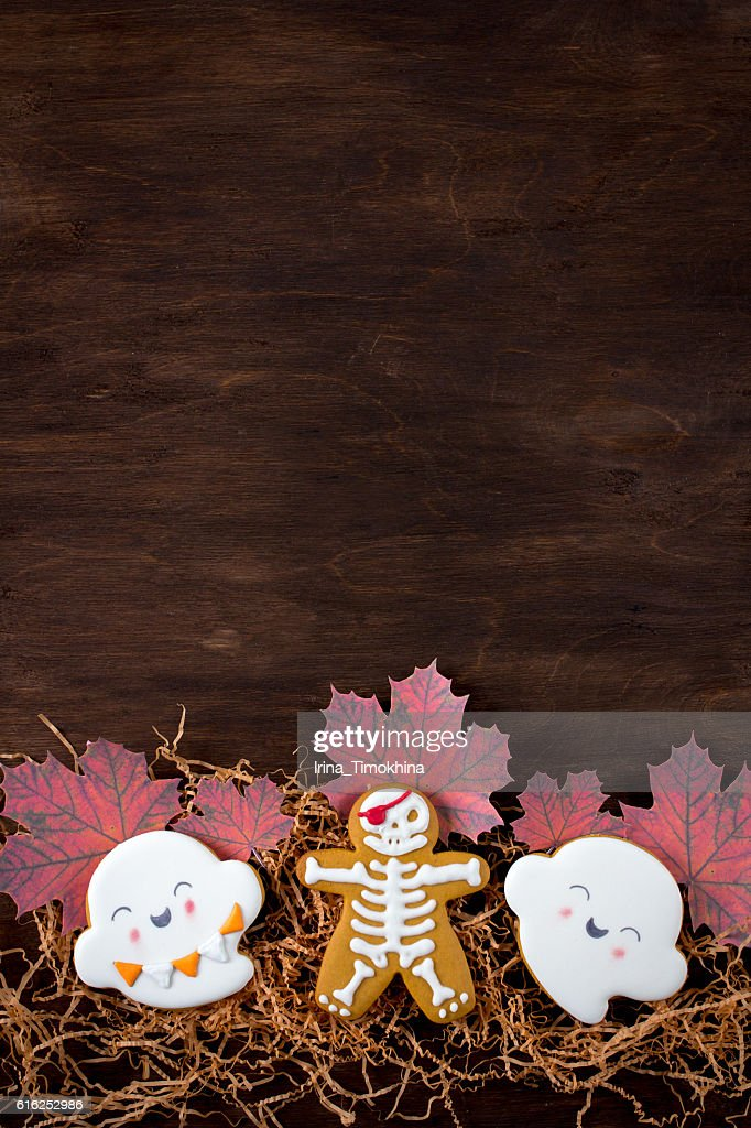 Funny gingerbread cookies for Halloween : Foto de stock