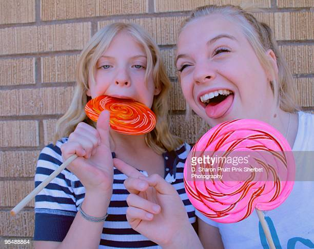 Funny Girls With Big Lollipops
