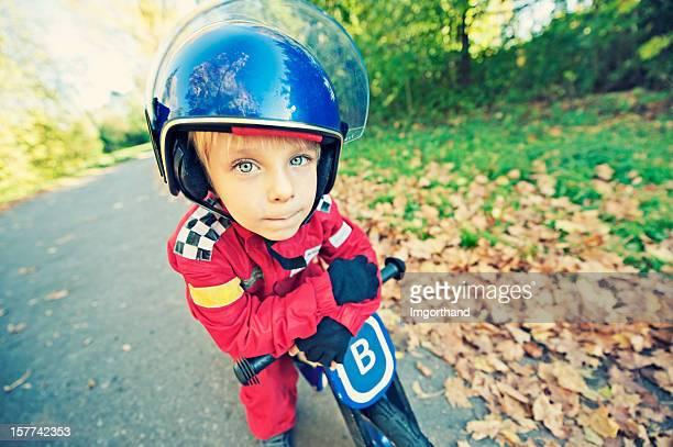 funny little vélo racer - moto humour photos et images de collection