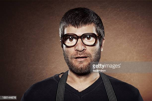 funny male portrait - thick stock photos and pictures