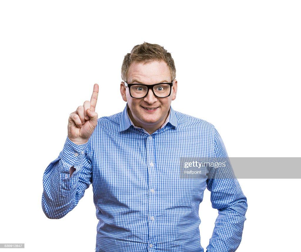 Funny man : Foto de stock