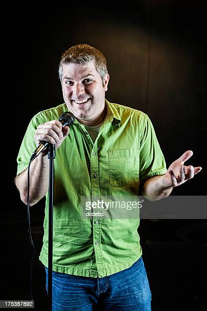 Funny Man With Microphone