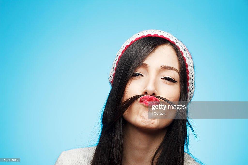 Funny moustache : Stock Photo