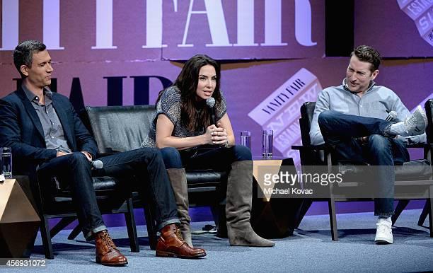 Funny or Die President of Production Mike Farah Filmmaker Whitney Cummings and Filmmaker Scott Aukerman speak onstage during How to Earn Thousands...