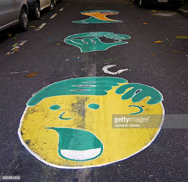 Funny paint ornamenting Rua Honório de barros to the World Cup at Flamengo district.
