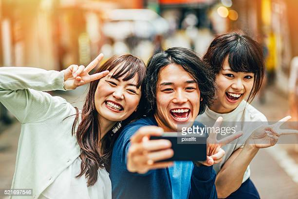 funny pose for selfie - self portrait photography stock pictures, royalty-free photos & images