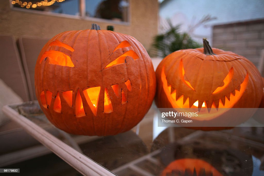 Funny Pumpkins High Res Stock Photo Getty Images