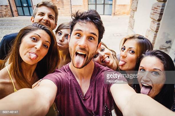 Engraçado uma Selfie na Cidade