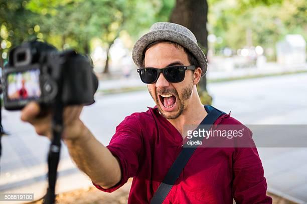 lustiger selfie - selbstporträt stock-fotos und bilder