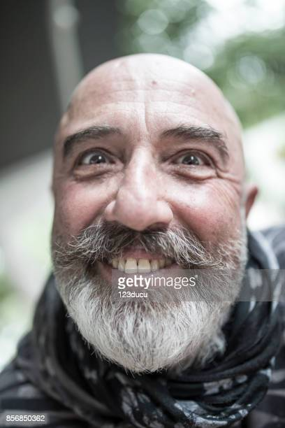 funny senior man - ugly turkey stock photos and pictures