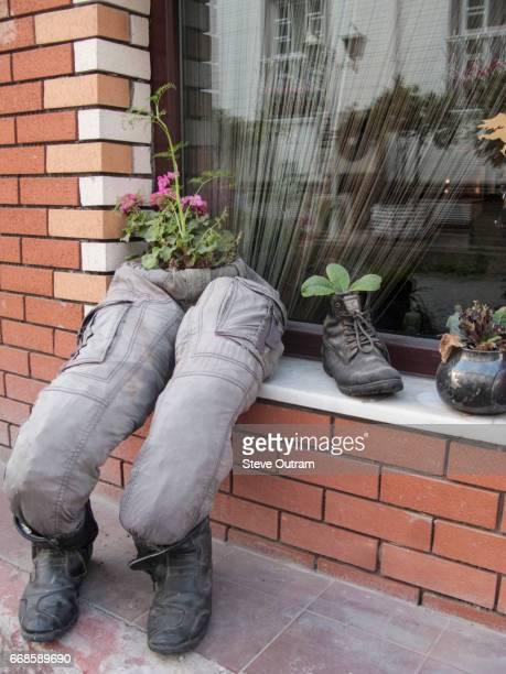 Funny Shoe Shop Window Display, Istanbul, Turkey