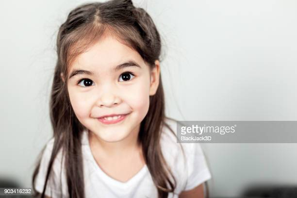 funny small girl - baby girls stock pictures, royalty-free photos & images