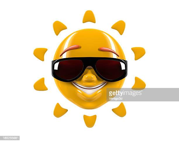funny smile sun - animation stock pictures, royalty-free photos & images