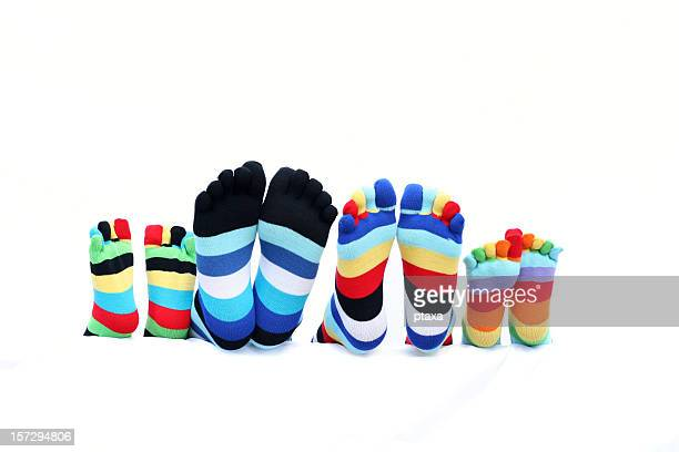 funny toe socks family - sock stock pictures, royalty-free photos & images
