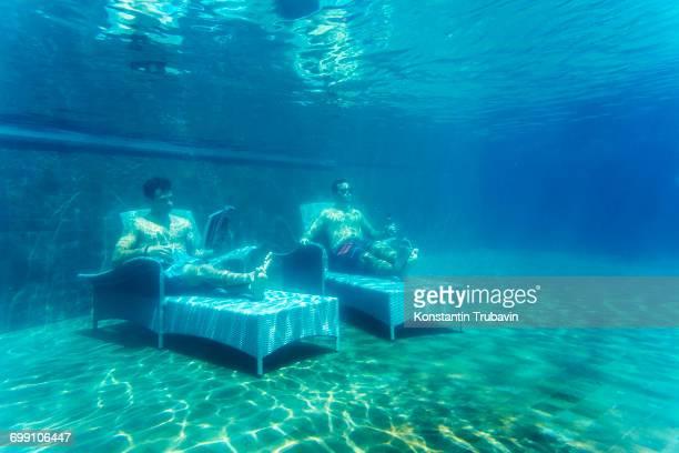 Funny underwater shot
