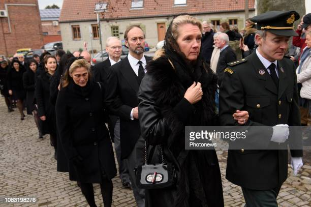Funérailles du comte Philippe de Lannoy père de la grandeduchesse héritière Stéphanie de Luxembourg Begrafenis van Philippe de Lannoy Anvaing Belgium...