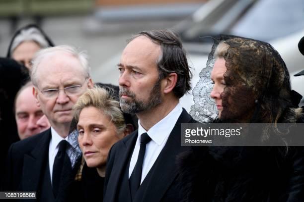 Funérailles du comte Philippe de Lannoy père de la grandeduchesse héritière Stéphanie de Luxembourg Begrafenis van Philippe de Lannoy * Christian De...