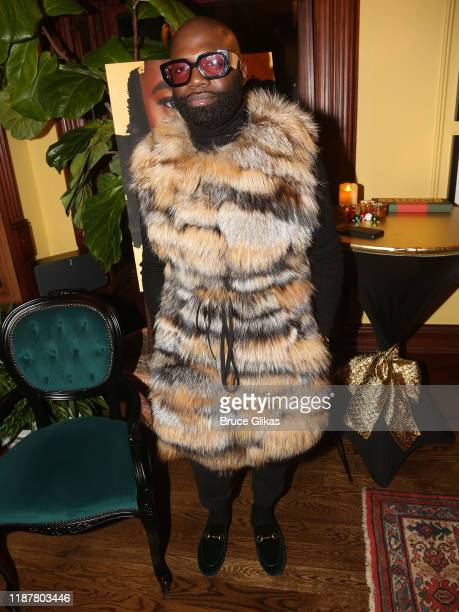 Fur Designer Duckie Confetti poses at the celebration for the North of 40 Podcast Launch at Dapper Dan Atelier on November 14 2019 in New York City