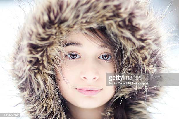 fur hood - parka coat stock photos and pictures