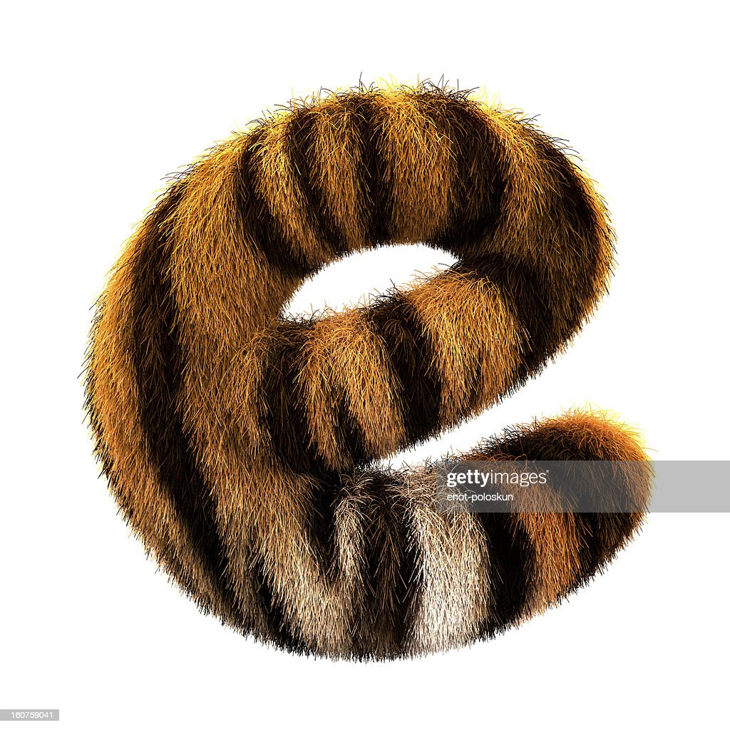 Fur letter E : Stock Photo