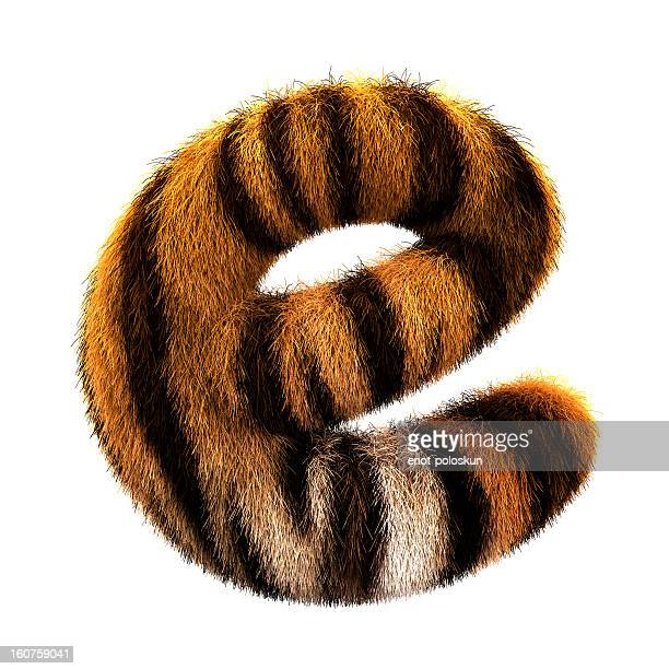 fur letter e - typography stock photos and pictures