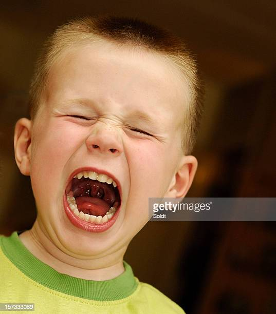 furious screaming boy  |  regular version - uvula stock photos and pictures