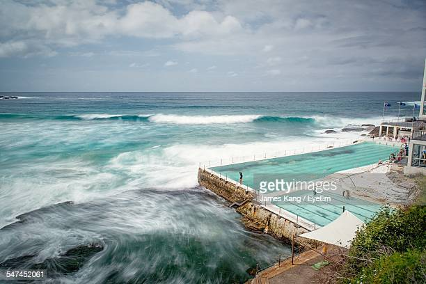 Furious Sea By Bondi Icebergs Pool